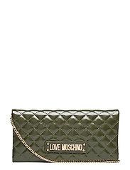 Evening Bag Bags Clutches Grønn LOVE MOSCHINO BAGS