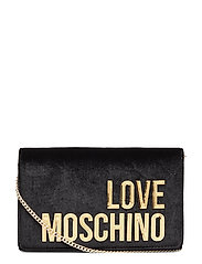 Evening Bag Bags Clutches Svart LOVE MOSCHINO BAGS