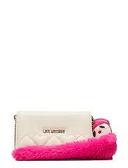 Slg-Fur Dolls Chain Bags Clutches Rosa LOVE MOSCHINO BAGS