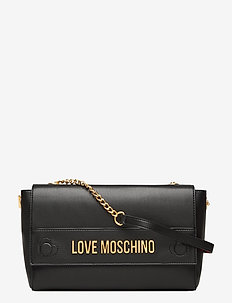 THE NEW LETTERING LOVE MOSCHINO - axelremsväskor - black