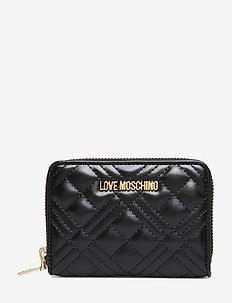 SLG-NEW SHINY QUILTED - plånböcker - black