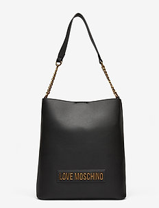 LETTERING LOVE MOSCHINO - bucket-väskor - black