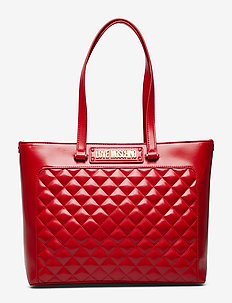 NEW SHINY QUILTED - RED