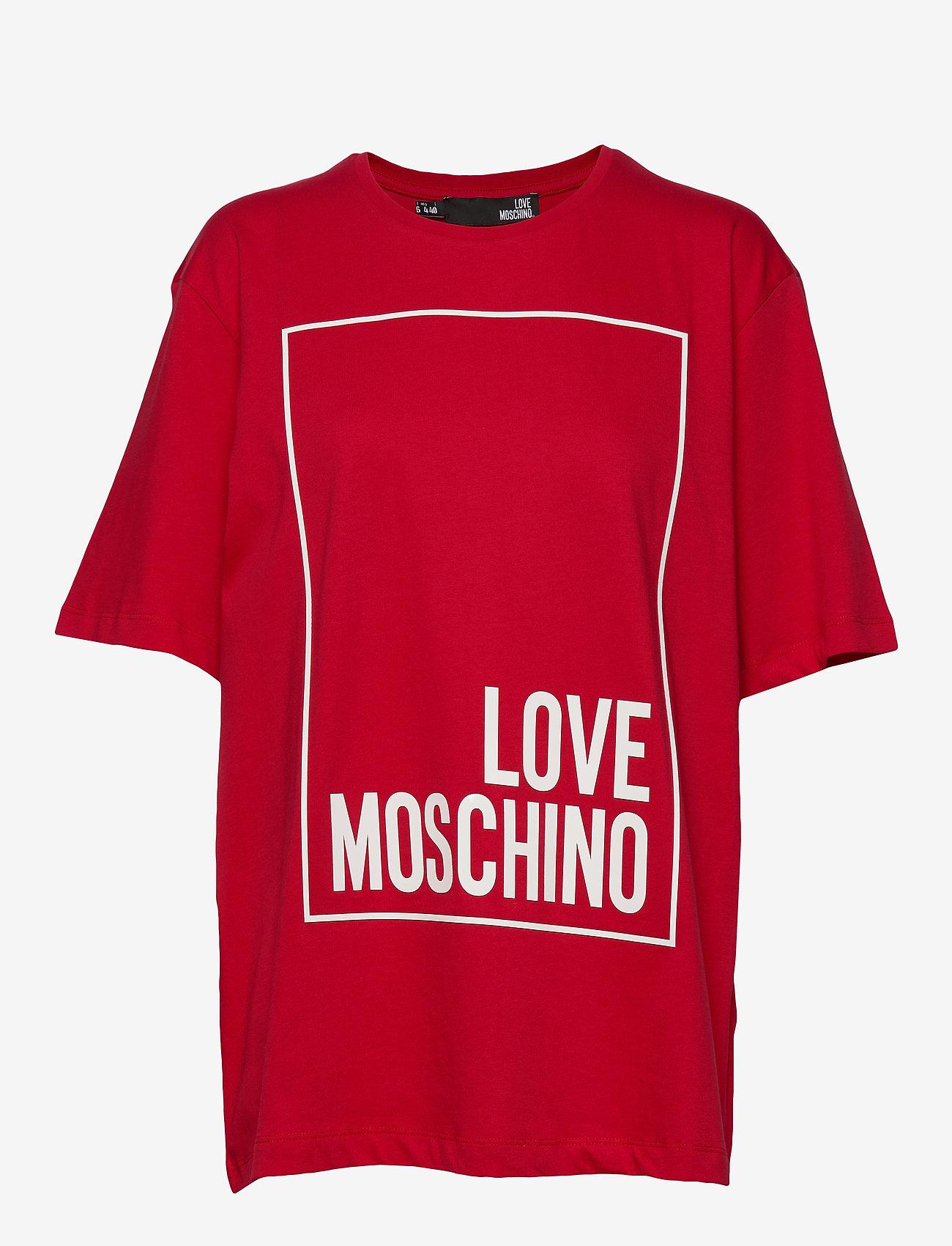 Love Moschino - W4F8728M4083 - t-shirts - red