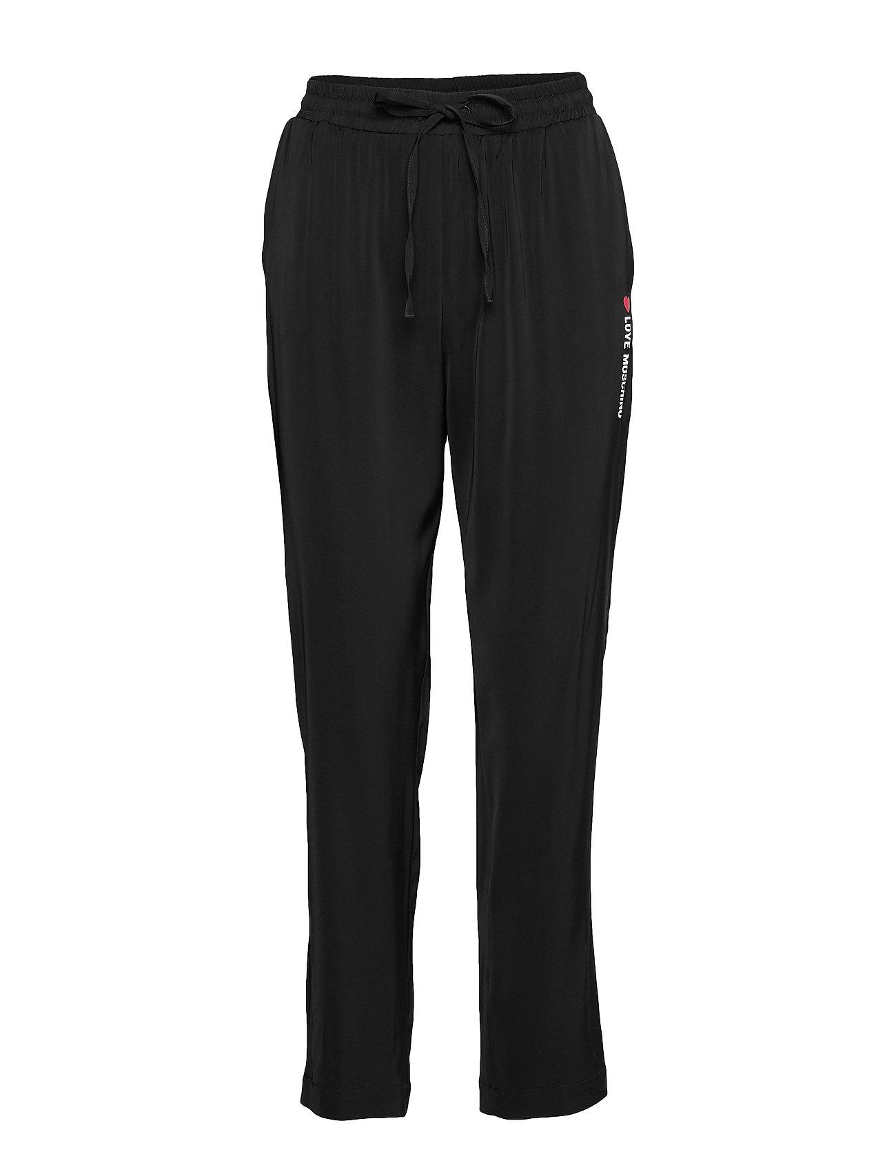 Image of Love Moschino Trousers Bukser Med Lige Ben Sort Love Moschino (3309076823)