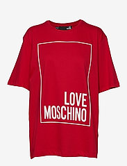 Love Moschino - W4F8728M4083 - t-shirts - red - 0