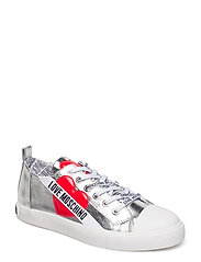 LOVE MOSCHINO SNEAKERS - SILVER