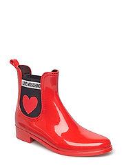 LOVE MOSCHINO RAINBOOT - RED
