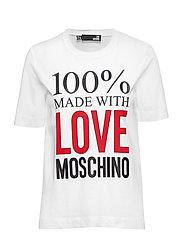 LOVE MOSCHINO-T-SHIRT - WHITE