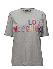 LOVE MOSCHINO-T-SHIRT - MEL.LIGHT GRAY