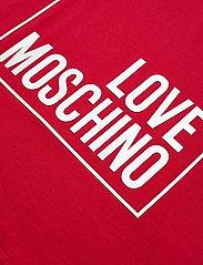 Love Moschino - W4F8728M4083 - t-shirts - red - 3