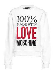 LOVE MOSCHINO-SWEATSHIRT - WHITE