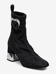 LOVE MOSCHINO SHOES - ankelstøvletter med hæl - black