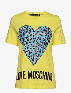LOVE MOSCHINO T-SHIRT - YELLOW