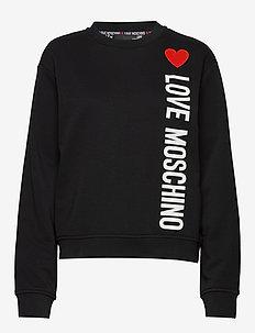 LOVE MOSCHINO SWEATSHIRT - BLACK