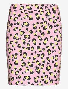 LOVE MOSCHINO SKIRT - kort skjørt - p.leopard/pink