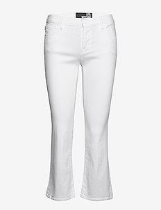 LOVE MOSCHINO TROUSERS - utsvängda jeans - optical white