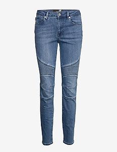 LOVE MOSCHINO TROUSERS DENIM - skinny jeans - blue