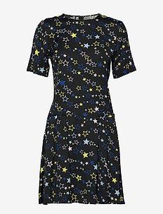LOVE MOSCHINO DRESS - korte kjoler - stars-black