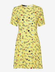 LOVE MOSCHINO DRESS - korte kjoler - stars-yellow