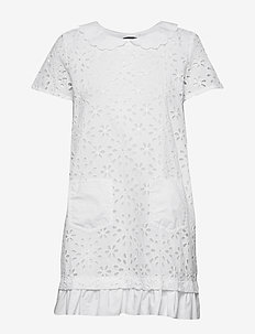 LOVE MOSCHINO DRESS - spetsklänningar - optical white
