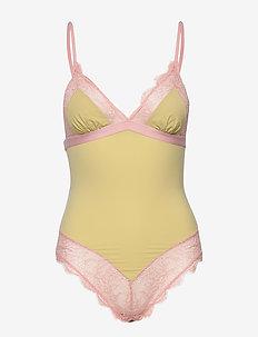 Doris Lace - bodies & slips - lime