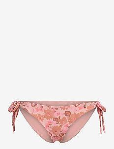 Zoey - side tie bikinier - fluo flower