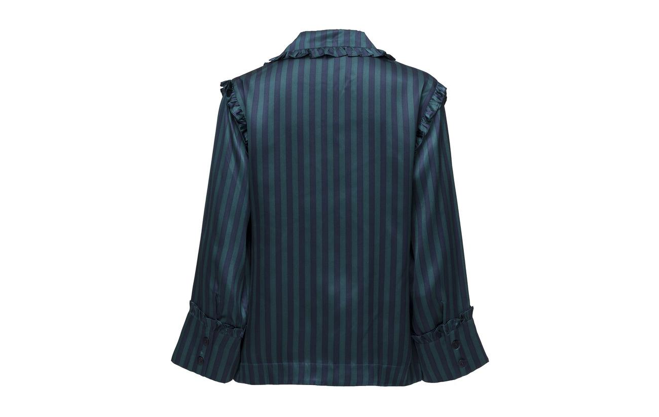 Sienna Satin 100 1979 Shirt Deep Soie Teal Lovechild qHT5Rww