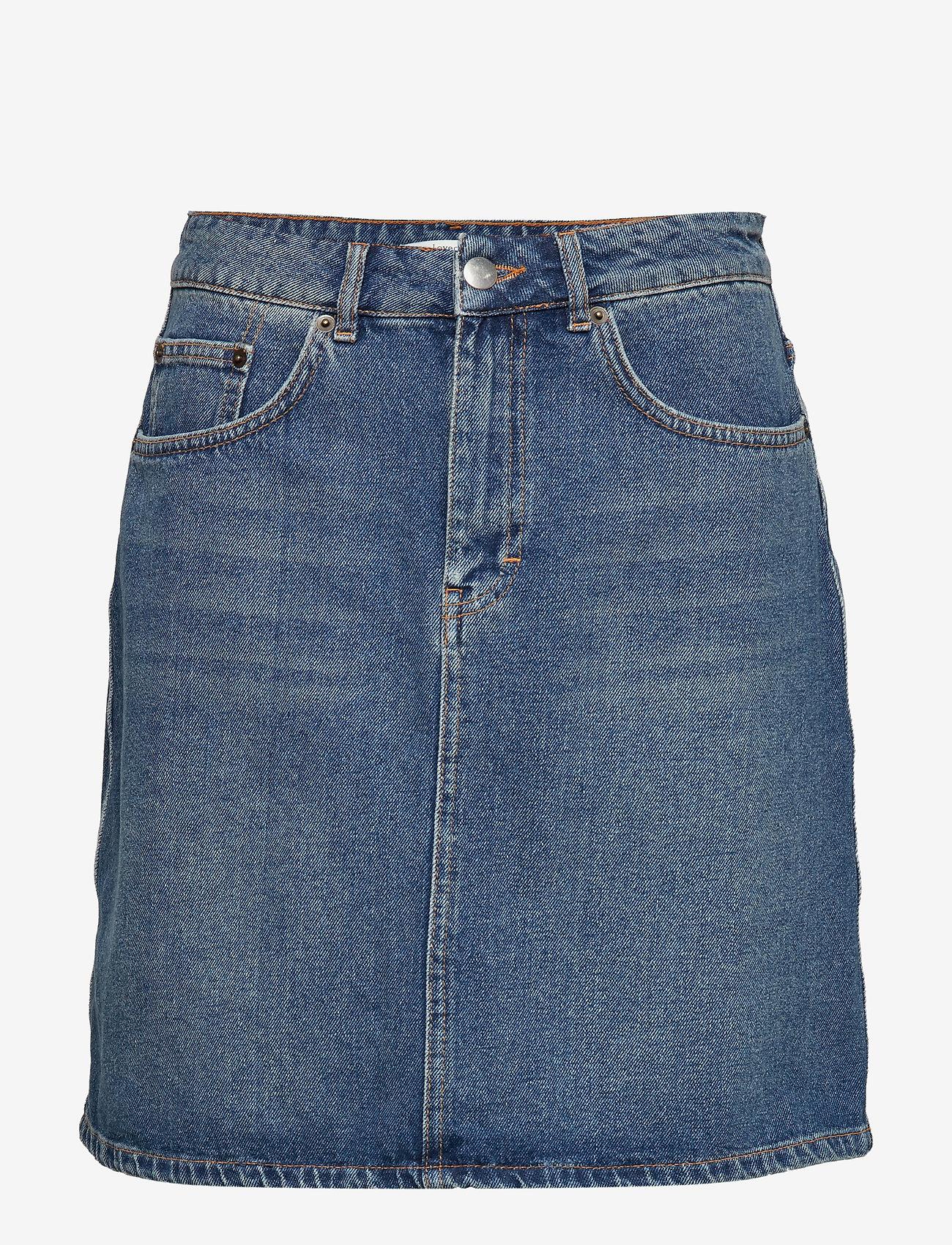 Lovechild 1979 - Katie Skirt - short skirts - heavy washed denim