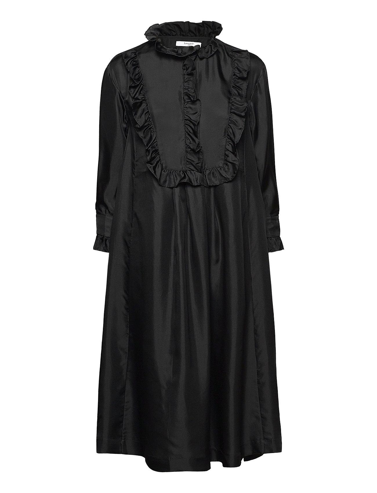 Image of Ivy Dress Knælang Kjole Sort Lovechild 1979 (3479360001)
