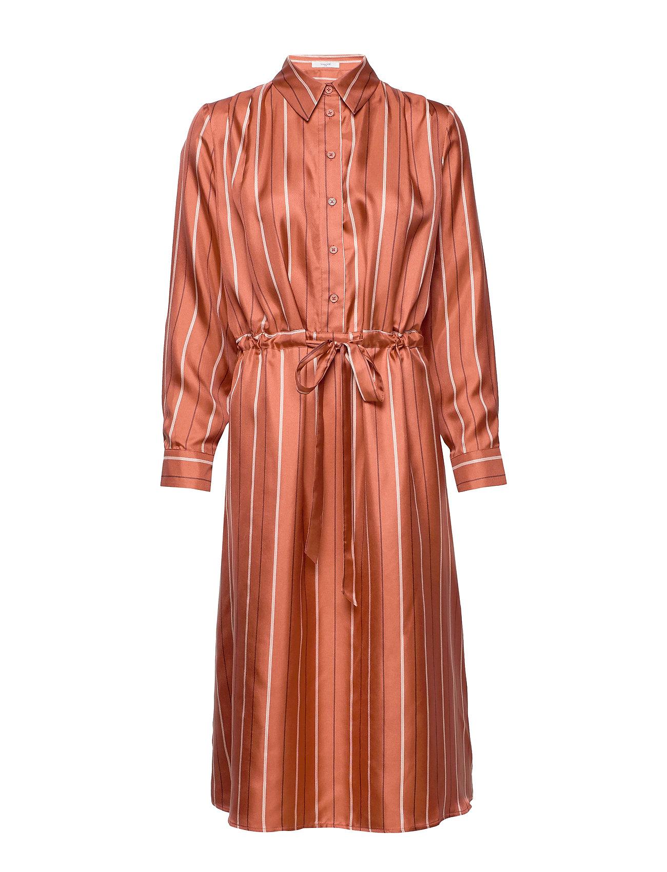 Frida Dress Knælang Kjole Orange Lovechild 1979
