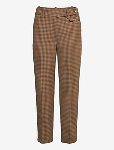 Coppola Pants - suorat housut - brown
