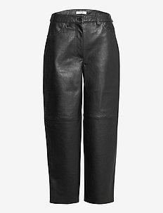 Aston Pants - læderbukser - black