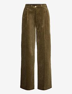 Lucas Pants - bukser med brede ben - army