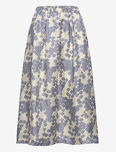 Long Severin Skirt - midinederdele - cloud cream