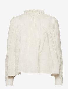 Isabel Shirt - langærmede bluser - snow white