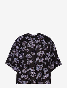 Ria Blouse - bluzki krotkim rekawem - black