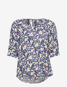 Esmira Blouse - bluzki krotkim rekawem - chalk violet