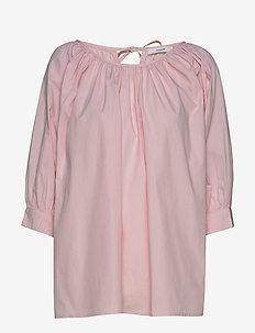 Esmira Blouse - long sleeved blouses - barely pink