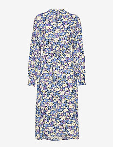 Marilla Dress - midi kjoler - chalk violet