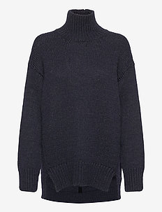 Manny Pullover - turtlenecks - navy