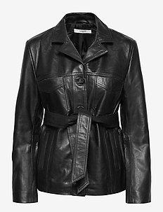 Ollie Jacket - skinnjackor - black