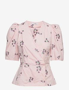 Cora Blouse - kortærmede bluser - barely pink
