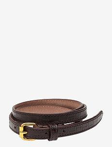 Leona Belt - belter - imprinted brown