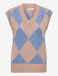 Vicky Waistcoat - kootud vestid - heritage blue