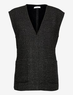 Harley Vest - kootud vestid - grey melange