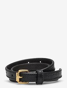 Leona Belt - ceintures - imprinted black