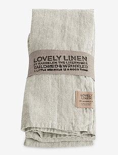 LOVELY NAPKIN - servietter - light grey