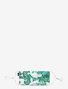 Pleat Print Mask - munskydd - holiday paisley green