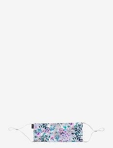 Pleat Print Mask - munskydd - v flower print